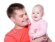 Free Happy Father With Smile Holding His Baby Stock Photos - 22245113