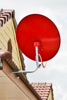 Free Red Satellite Dish Stock Photos - 22246063