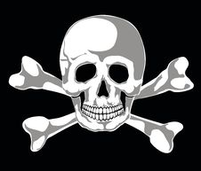 Free Jolly Roger Vector Royalty Free Stock Images - 22246339
