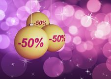 Christmas Discount Royalty Free Stock Photo