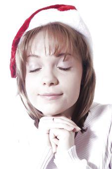 Free Christmas Girl Royalty Free Stock Photography - 22247407
