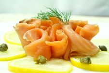 Free Smoked Salmon Royalty Free Stock Image - 22248926