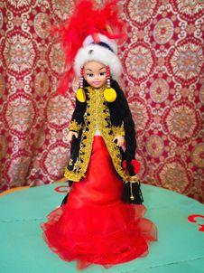 Free Kazakh Doll Royalty Free Stock Photography - 22249177