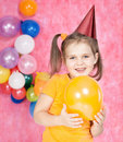 Free Girl With Balloons Royalty Free Stock Images - 22257659