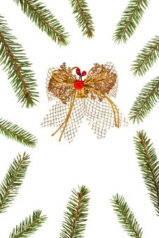 Free Frame Of Christmas Tree Branches Royalty Free Stock Photos - 22251428