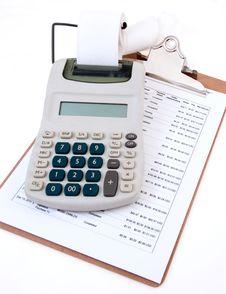 Free Business Calculator Close-Up Stock Photos - 22253813