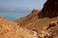 Free Dead Sea View From Judaean Desert Royalty Free Stock Image - 22254536