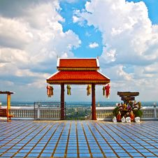 Thai-style Roof Stock Image