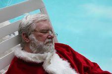 Free Sleeping Vacationing Santa 2 Royalty Free Stock Image - 22255506
