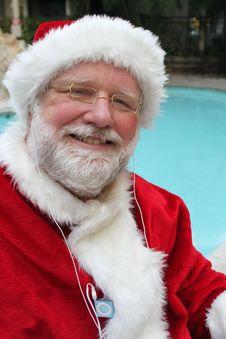 Free Santa Listening To His Ipod Stock Image - 22255561