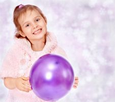 Free Beautiful Girl With A Christmas Tree Royalty Free Stock Photography - 22257487