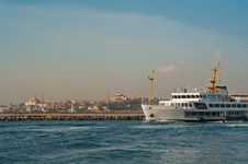 Free Istanbul City Ship Stock Images - 22259434