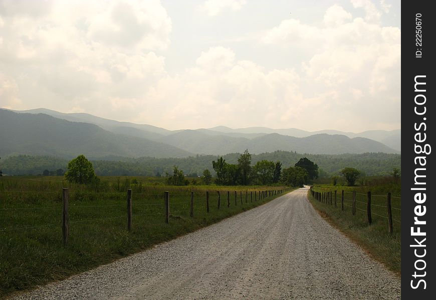 An old mountain country road
