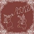 Free Dancing Snowmen Royalty Free Stock Images - 22262979