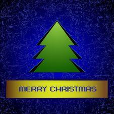 Free Blue Christmas Greeting Card Royalty Free Stock Image - 22260986