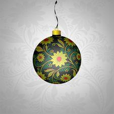 Free Christmas Ball In Khokhloma-style Royalty Free Stock Image - 22261006