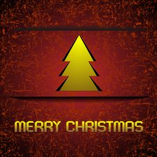 Free Gold Christmas Tree Royalty Free Stock Images - 22261079