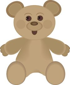 Free Illustration Of Cute Brown Bear Royalty Free Stock Photography - 22262917