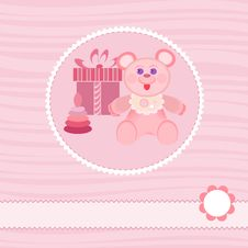 Free Baby Shower Card Royalty Free Stock Photography - 22263127