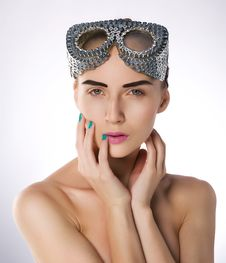 Free Beautiful Fashion Model With Unusial Glasses Stock Image - 22266061