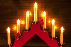 Free Christmas Candlesticks Royalty Free Stock Photos - 22266558