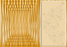 Card With A Gold Background Royalty Free Stock Photo
