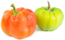 Free Red And Green Bell Peppers Stock Image - 22270271