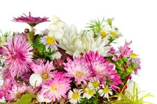 Beautiful Bouquet Of Autumn Flowers Stock Image