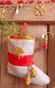 Free Christmas Stocking Hanging Stock Image - 22270411