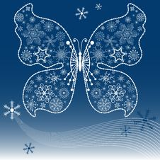 Christmas Dark Blue Background Royalty Free Stock Photography
