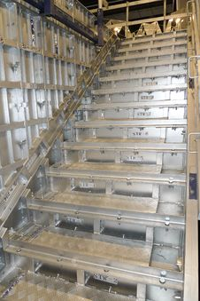 Industrial Steel Stairs Stock Photography