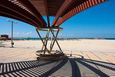 Free Modern Beach Pergola Gazebo Pavilion Royalty Free Stock Images - 22271289