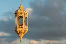 Free Beautiful Old Lantern Over The Blue Sky Royalty Free Stock Images - 22271359