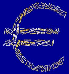 Free Euro Symbol Stock Image - 22271941
