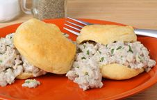 Free Sausage Biscuits Stock Photography - 22274332