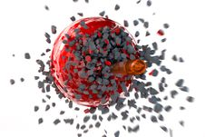 Bullet Destroyed Sphere Royalty Free Stock Image