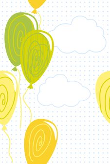 Free Balloons In The Air In Vector Stock Photos - 22275003