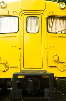 Yellow Train Diesel Engine
