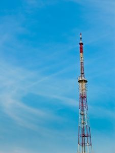 Free Antenna With Blue Sky Royalty Free Stock Image - 22279416