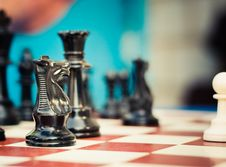 Free Set Of Chess Figures On The Playing Board Stock Photography - 22279612