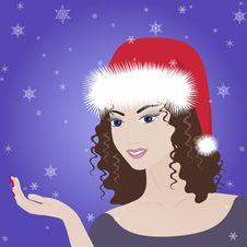 Free Beautiful Vector Winter Girl Royalty Free Stock Photos - 22279858