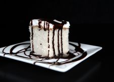 Free Fudge Drizzled White Cake Stock Photos - 22279983