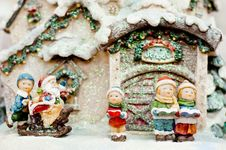 Free Cildren Christmas Choir And Santa Claus. Royalty Free Stock Photos - 22280478