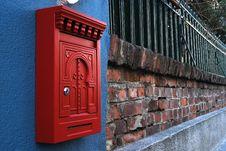 Free Post Box On Brick Wall Stock Image - 22281051