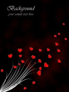 Free Valentine`s Day Card With Red Hearts Stock Photo - 22281300