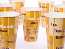 Free Paper Coffee Cups Stock Photo - 22282510
