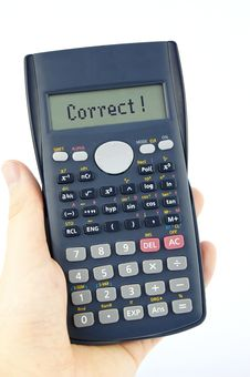 Free Correct Answer On Calculator S Display Stock Photos - 22286143