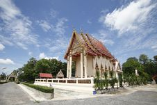Free Thai Temple And Nice Blue Sky  In Thailand. Stock Photo - 22288160