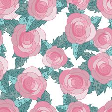 Free Seamless Pattern With Roses Royalty Free Stock Photography - 22289417