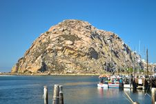 Fishing Boats, Morro Bay California Royalty Free Stock Photos